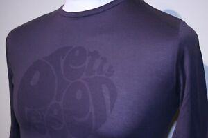 Pretty Green Big Logo Print Long Sleeve T-Shirt - XS/S - Purple - 80s Casual Top