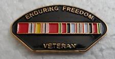 Enduring Freedom (Afghanistan) Veteran Hat Pin