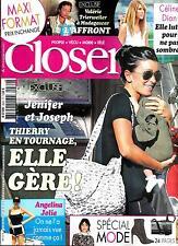 CLOSER N°484 19 SEPTEMBRE 2014  JENIFER/ DION/ JOLIE/ ALBA/ TRIERWEILER/ MODE