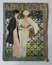 """ANCIENNE REVUE """" LA FEMME CHIC """" DE 1935"""