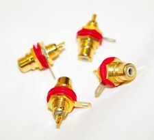 NEUTRIK - *PACK OF 4* - NYS367-2 REAN - Phono Socket Chassis Red    (PACK OF 4)