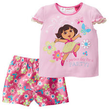 NWT Dora The Explorer Licensed Girls Floral Butterflies Summer Pyjamas Size 2