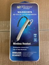 Warner Wireless Hi Tech Accessories Bluetooth Headset 3hr 5m New