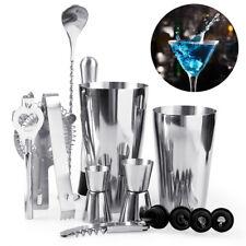 14 PCS Stainless Steel Cocktail Martini Shaker Mixer Drink Bartender Bar Set Kit