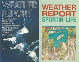 Weather Report - 1st Album + Sportin' Life. CBS Label. 2 Cassette Tapes