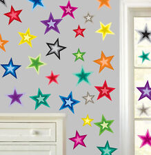 Colorata stelle confezione multipla-pacco da 22 Wall art Adesivi Decalcomanie Murales STAR