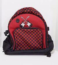 Gymboree Backpack Book Bag Unisex Guitars Black Red Shoulder Straps Short Handle