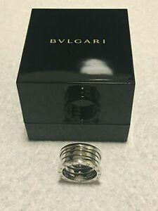 Bvlgari B. Zero1 Ring 4 Band in 18k White Gold Size 9