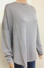 Ladies Size 16-18 Pleat Back Knit Grey Marl Jumper Womens Long sleeve Sweatshirt