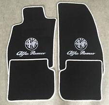 Autoteppich Fußmatten für Alfa Romeo 145 146 schwarz weiss Logo und Schrift Neu