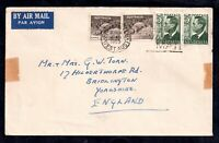 Australia 1953 24d (2 x 9d) Postal History Cover Airmail to UK WS15024