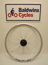 700c / 29er REAR Hybrid Bike Wheel D/Wall SILVER Rim + 5 SPEED FREEWHEEL