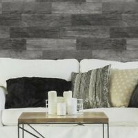 Distressed Charcoal Shiplap Wood Planks Peel and Stick Wall Decals Decor Sticker