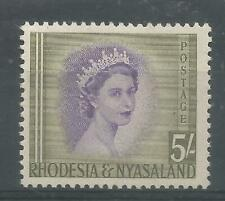 RHODESIA & NYASALAND 1954  QEII   MLH   5s violet & olive-green    SG13  Cat.£26