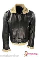 1930's 1940's Aviator Leather Jacket Rockabilly Anilin Lambskin Flight