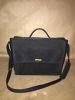 NINE WEST Black Briefcase Laptop Messenger Bag Business Portfolio Purse Handbag