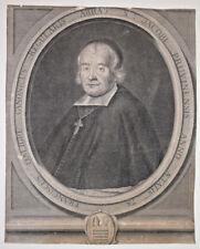 ABBE FRANCOIS D ALIGRE Portrait GRAVURE Claude Duflos PIERRE LOMBART 1698