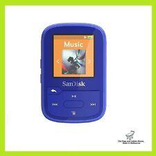 SanDisk 16GB Clip Sport Plus MP3 Player Portable Media Music - Blue