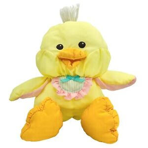 "Vintage Fisher Price Chick Puffalump 10"" Plush 1992 Yellow Puffalump 90s Easter"