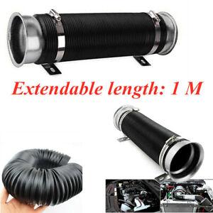 "Flexible Car Adjustable 3""Washable Car Turbo Cold Air Intake Pipe Hose Tube kit"