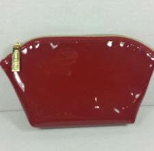 ESTEE LAUDER Red Vinyl Make Up Cosmetic Bag
