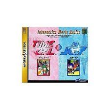 USED Time Gal & Ninja Hayate Sega Saturn Japan Import