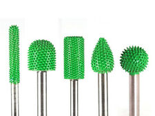 10% Discount 5pc Saburr Tooth Carbide Burrs Green 1/4 inch shaft Made in USA