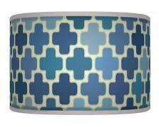 Blue White Retro Handmade Geometric Lamp Shade Drum Pendant Light 167 lampshade