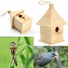 Wooden Hanging Bird House Birdhouse Feeding Feeder Station Garden Outdoor Decor