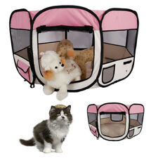 "New 57"" Dog Kennel Oxford Cloth Playpen Exercise Pen Folding 59cm*94cm Pink"
