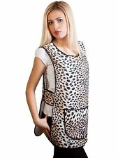 Women's Ladies Tabard Apron Leopard Print Tabbard Size 8-26 New