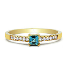 Topaz 9 Carat Engagement Yellow Gold Fine Rings