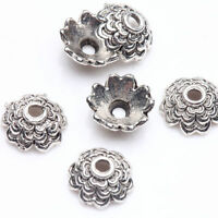 Wholesale 100Pc Tibetan Silver Flower Spacer Bead Caps Jewelry Making DIY 8x3mm