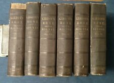 1850-51 GIBBONS ROME edited by Milman Complete in 6 Volumes, N.Y. Harper & Bros.