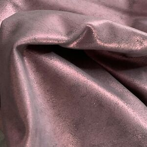 Buy Purple Genuine Leather Hide Upholstery Material Crafting Supply Fabric 842