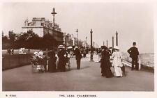 The Leas Folkestone Pram Perambulator RP old pc used 1912 WHS Kingsway S5390