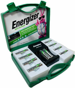 Energizer Recharge 6 AA and 4 AA Rechargeable Batteries with Charger