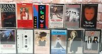 Lot of 15 Soft Rock Easy Listening 80's Cassette Tapes Frank Sinatra Loverboy