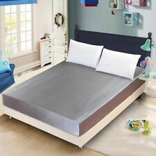 """Fake Silk Fitted Bed Sheets Queen/Standard Linens charmeuse Plain 59X78""""/70X78"""""""
