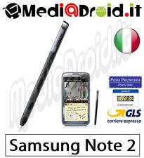 SAMSUNG GALAXY NOTE 2 N7100 PENNINO S-PEN STYLUS NERO PENNA ETC-S1J9 ORIGINAL