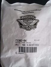 HARLEY DAVIDSON FUSE BLOCK COVER BLACK  P/N 73302-04 NOS (QTY 5)