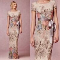 BHLDN Adrianna Papell Melinda Floral Muted Maxi Dress Mother of the Bride Size 4