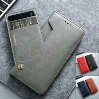 Samsung S21+ Note 20 Ultra S20 Fe S10 S9 Magnetic Flip Leather Wallet Case Cover