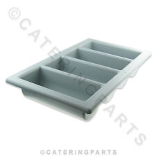 4 SECTION COMPARTMENT GREY HEAVY DUTY CUTLERY DRAW TRAY FOR COMMERCIAL KITCHENS