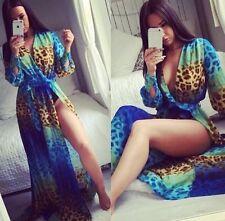 ⭐️LEO⭐️Leopard Print Maxi Kaftan Dress Sizes 6-16 Modaminx Dolls House