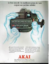 Publicité Advertising 1990 Le camescope camera Akai
