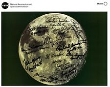 Lithograph of Moon Signed by 13 Apollo Astronauts