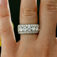 Round Cut Diamond Wedding Anniversary Band Ring In 10k White Gold