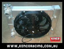 Kenco Small Boy Aluminium Radiator Dual Double Pass Fan Speedway Drag Race Car