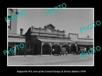 OLD LARGE HISTORIC PHOTO OF KALGOORLIE WA, THE CENTRAL SERVICE STATION c1930